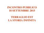 Presentazione incontro 18 settembre 2015 Hotel Maggior Consiglio