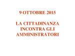 Presentazione incontro Giunta Treviso con la cittadinanza 9 ottobre 2015